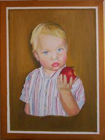 Kinder, Ölmalerei, Menschen, Portrait