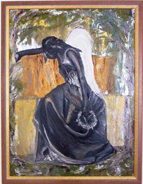 Ölmalerei, Figural, Surreal, Frau