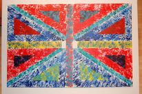 Welt, Malerei, Abstrakt, Flagge