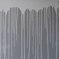 Acrylmalerei, Blau, Linie, Blaugrau