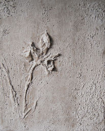 Spachteltechnik, Blumen, Struktur, Beton