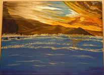 Meer, Berge, Himmel, Malerei