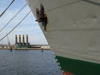 Frachtschiff, Fruchtschuppen, Eisklasse, Hafen