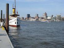 Fotografie, Hamburg, Dampfschiff, Hafenkrone