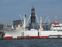 Frachtschiff, Cap san diego, Hafen, Kirche