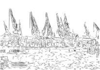 Kran, Hafen, Hamburger, Schiff