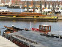 Lastkahn, Fotografie, Hafen, Hansahafen