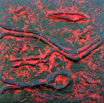 Rot schwarz, Acrylmalerei, Kunsthandwerk, Rot