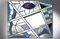 Acrylmalerei, Spiegel, Kunsthandwerk