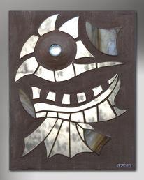 Buntglas, Acrylmalerei, Spiegel, Kunsthandwerk