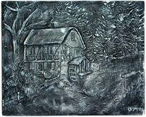 Schwarz weiß, Mühle, Kunsthandwerk