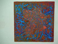 Bruch, Rot, Rahmen, Malerei