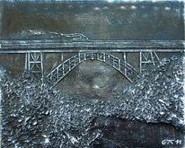Schwarz weiß, Kunsthandwerk, Brücke, Relief