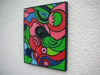 Ölmalerei, Acrylmalerei, Rot, Gelb