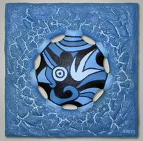 Schwarz weiß, Acrylmalerei, Blau, Farben