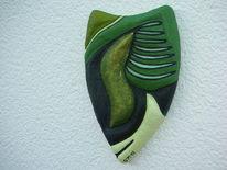 Relief, Styroporkügelchen, Polystyrol, Kunsthandwerk