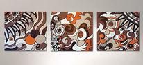 Acrylmalerei, Triptychon, Malerei