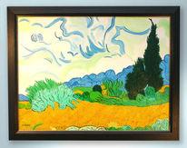 Zypressen, Malerei, Gogh