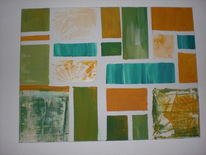 Sommer, Modern, Abstrakt, Malerei