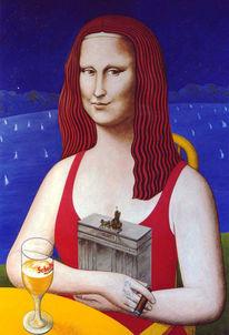 Mona lisa, Deutschland, Brandenburger tor, Wannsee