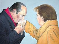 Politik, Chirac, Frankreich, Handkuss