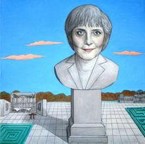 Merkel, Berlin, Sockel, Deutschland