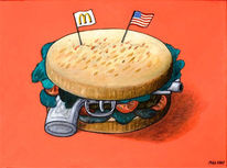 Hamburger, Mcdonald´s, Usa, Pistole