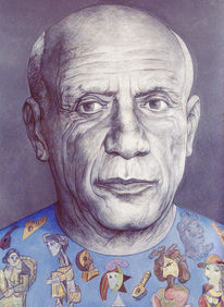 Portrait, Malen, Frankreich, Picasso