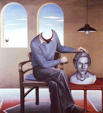 Stuhl, Portrait, Büste, Selbstportrait