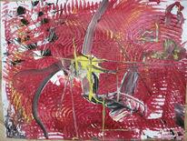 Struktur, Abstrakt, Deutsch, Rot