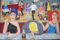 Tanz, Bunt, Whisky, Frau