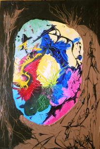 Malerei, Abstrakt, Durchblick