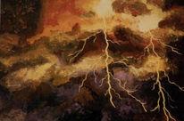 Gewitter, Braun, Blitz, Strom