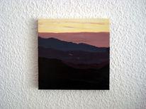 Berge, Abendrot, Himmel, Sonnenuntergang