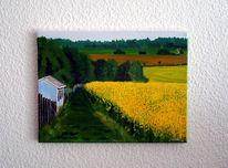 Haus, Wiese, Renata proft, Landschaft