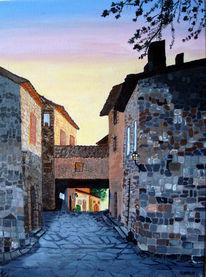 Haus, Stein, Renata proft, Sonnenuntergang