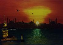 Kizkulesi, Istanbul, Malerei