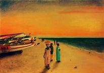 Afrika, Mauretanien, Fischerboot, Landschaft