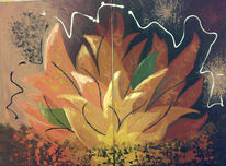 Feuer, Seele, Malerei, Abstrakt