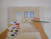 Hobbymalerei, Aquarell, Malen