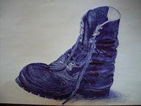 Zeichnungen, Stillleben, Stiefel