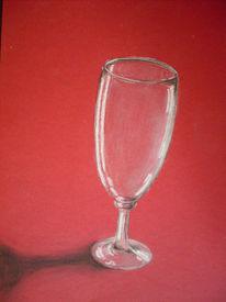 Zeichnungen, Stillleben, Weinglas