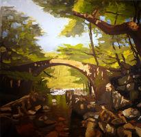 Malerei, Ganzes, Brücke