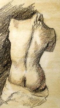 Akt, Statue, Zeichnungen, Ganzes
