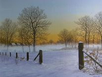 Romantik, Landschaft, Realismus, Winter