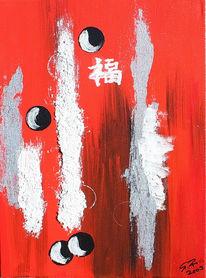 Rot schwarz, Struktur, Acrylmalerei, Weiß