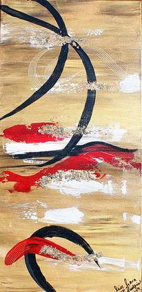 Finanzkrise, Abstrakt, Acrylmalerei, Malerei