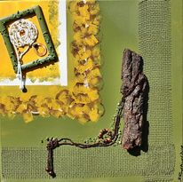 Perlen, Collage, Schmuck, Wandschmuck