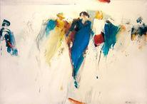 Abstrakt, Figur, Acrylmalerei, Ölmalerei