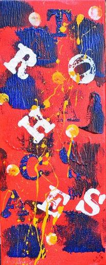 Bunt, Abstrakt, Acrylmalerei, Malerei